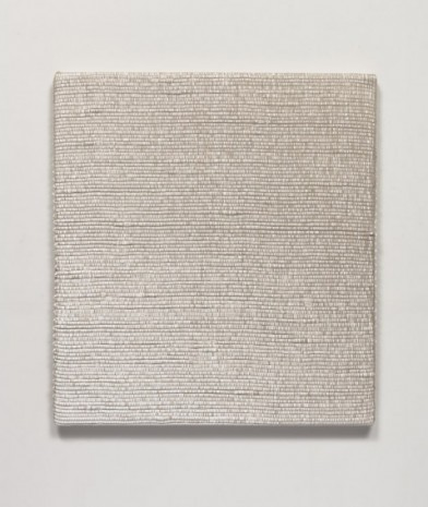 Analia Saban , Woven Diagonal Gradient Composition as Weft (Top-right Corner to Bottom-left Corner, White), 2019, Tanya Bonakdar Gallery