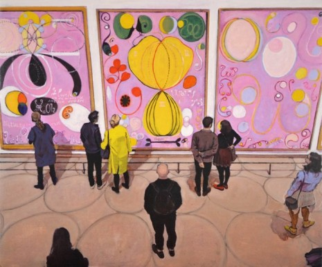 Joe Fig, Hilma af Klint: The Ten Largest, Adulthood #6, 7 & 8/Guggenheim, 2019, Cristin Tierney