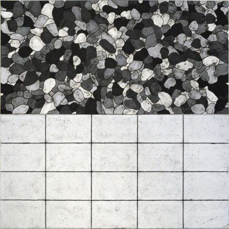 Matt Mullican, all I see are light patterns in 5 black and white, 2018, Mai 36 Galerie