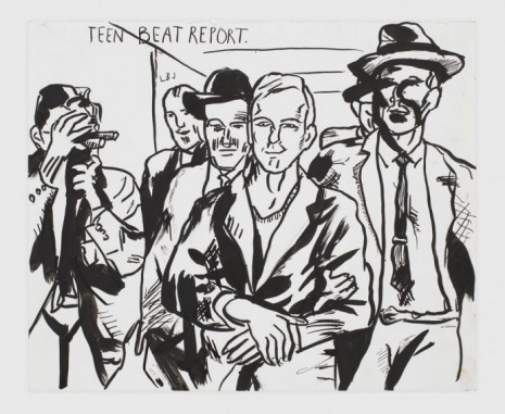 Raymond Pettibon, No Title (Teen beat report.), 2019, Regen Projects