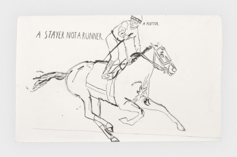Raymond Pettibon, No Title (A stayer not), 2019, Regen Projects