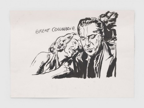 Raymond Pettibon, No Title (Great collarbone.), 2019, Regen Projects