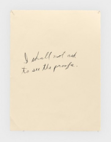 Raymond Pettibon, No Title (I shall not), 2019, Regen Projects