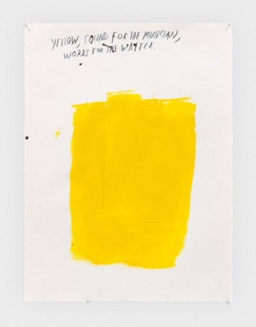 Raymond Pettibon, No Title (Yellow, sound for) , 2019, Regen Projects