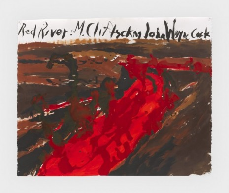 Raymond Pettibon, No Title (Red river m.), 2019, Regen Projects