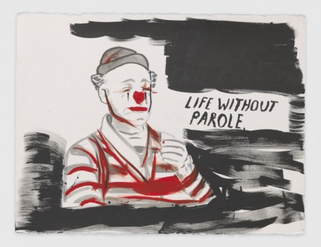 Raymond Pettibon, No Title (Life without parole.), 2020, Regen Projects