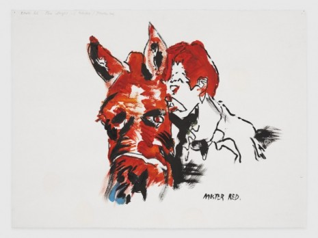 Raymond Pettibon, No Title (Route 66 Ten), 2020, Regen Projects