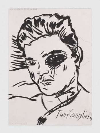 Raymond Pettibon, No Title (Tony Conigliara), 2020, Regen Projects