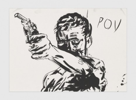 Raymond Pettibon, No Title (POV), 2020, Regen Projects