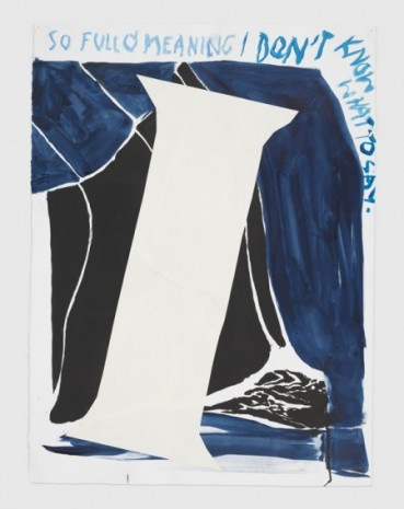 Raymond Pettibon, No Title (So full o'), 2020, Regen Projects