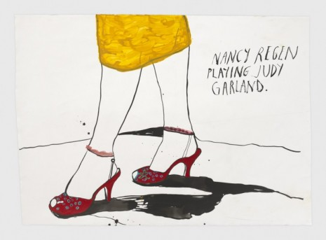 Raymond Pettibon, No Title (Nancy Regen playing), 2020, Regen Projects