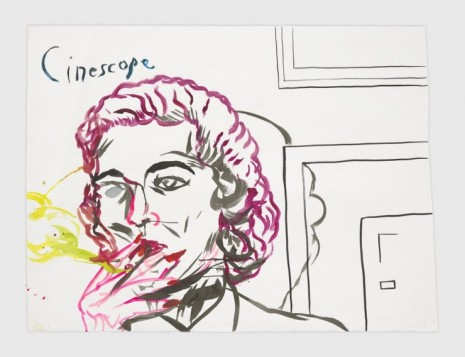 Raymond Pettibon, No Title (Cinescope.), 2020, Regen Projects
