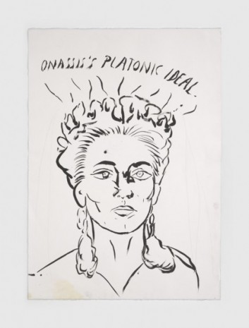 Raymond Pettibon, No Title (Onassis's platonic ideal.), 2020, Regen Projects