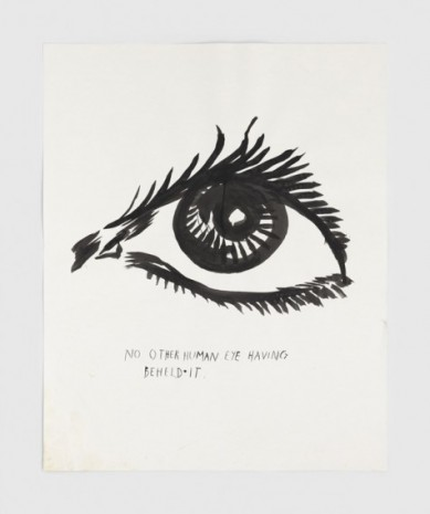 Raymond Pettibon, No Title (No other human), 2020, Regen Projects