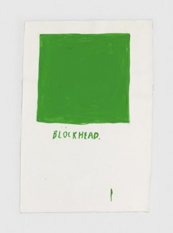 Raymond Pettibon, No Title (Blockhead.), 2020, Regen Projects