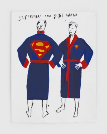 Raymond Pettibon, No Title (Superman and Burt), 2020, Regen Projects
