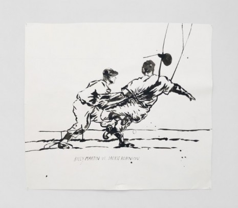 Raymond Pettibon, No Title (Billy Martin vs.), 2020, Regen Projects