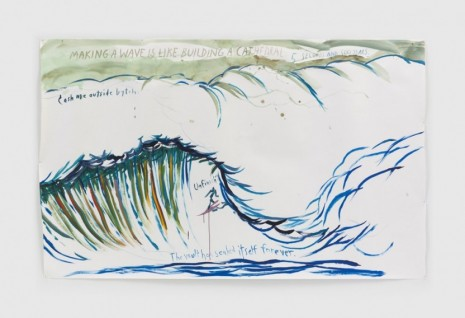 Raymond Pettibon, No Title (Making a wave), 2020, Regen Projects