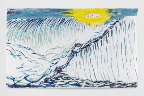 Raymond Pettibon, No Title (Str8 Line.), 2020, Regen Projects