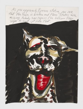 Raymond Pettibon, No Title (As you approach), 2019, Regen Projects