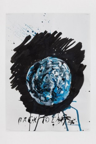 Raymond Pettibon, No Title (Back to Earth), 2020, Regen Projects
