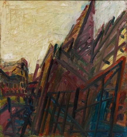 Frank Auerbach, Chimney in Mornington Crescent – Winter Morning, 1991 , Luhring Augustine