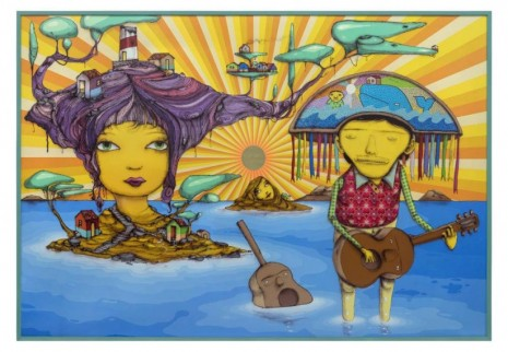 OSGEMEOS, The pretty island, 2019, Lehmann Maupin