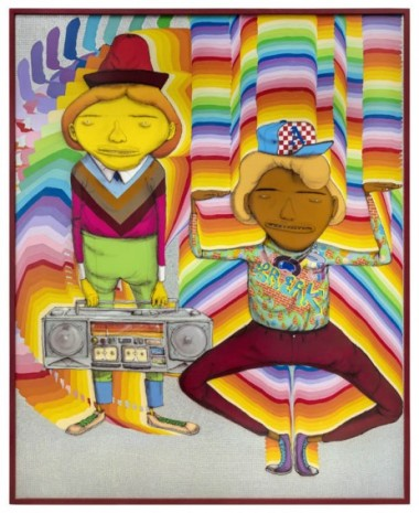 OSGEMEOS, Looking for the perfect beat, 2019, Lehmann Maupin