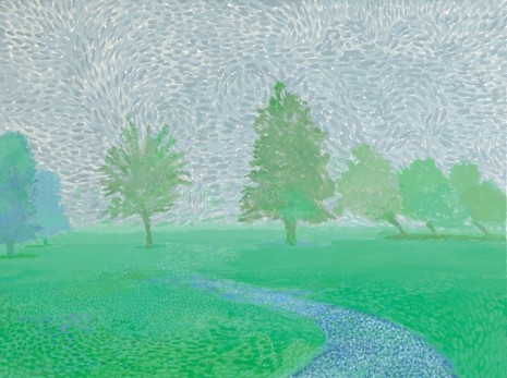 David Hockney, Trees Mist, 2019, Galerie Lelong & Co.