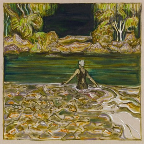 Billy Childish, trees and water, 2020, Lehmann Maupin