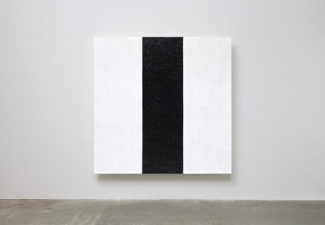 Mary Corse, Untitled (White with Black Reflective Inner Band), 2020, Lisson Gallery