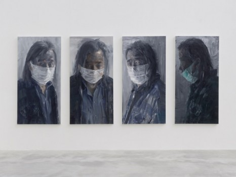 Yan Pei-Ming, Self-portrait with Mask, 2020, Galerie Thaddaeus Ropac