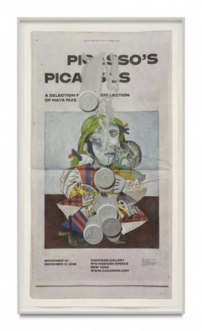 Paul Sietsema, Vertical newspaper (Picasso's Picassos), 2020, Matthew Marks Gallery
