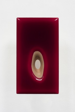 Donald Moffett, Lot 090220 (organic hole, red), 2020, Marianne Boesky Gallery