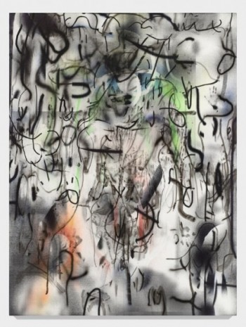 Julie Mehretu, Maahes (Mihos) torch, 2018-2019, Marian Goodman Gallery