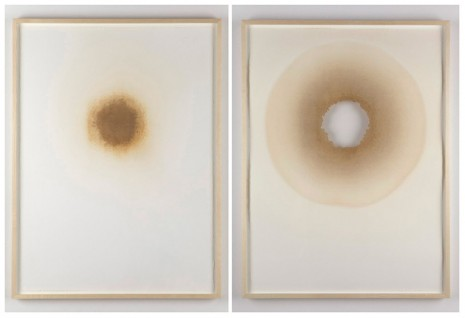 Analia Saban, Burn Hole (Part I and 2) , 2012, Tanya Bonakdar Gallery