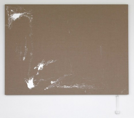 Analia Saban, Painting (with brush), 2012, Tanya Bonakdar Gallery