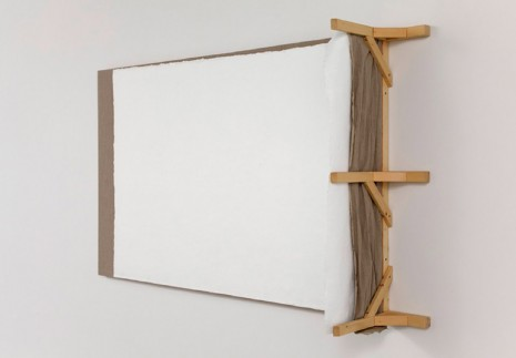 Analia Saban, Wall Corner (with Pinhole), Cast in Paint, Mounted on Canvas, 2012, Tanya Bonakdar Gallery