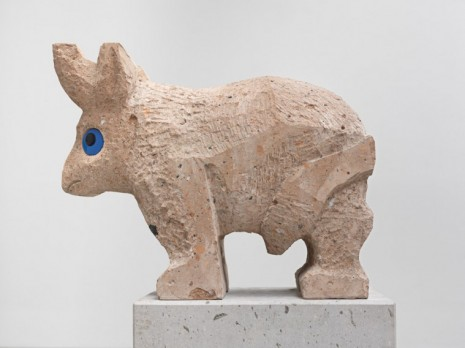Olaf Breuning, Sad and worried animals / Bull, 2020, Metro Pictures