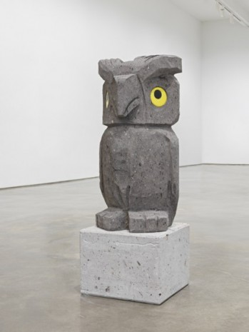 Olaf Breuning, Sad and worried animals / Owl, 2020 , Metro Pictures