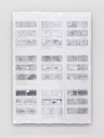 Sebastian Diaz Morales, Storyboard drawing from Insight, 2012, carlier I gebauer