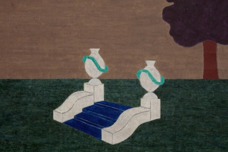 Eleonore Koch, Blue Carpet on Steps in Landscape, 1984, Modern Art