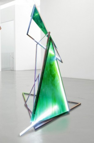 Paul Schwer, Figure made of triangles, 2020 , Galerie Barbara Thumm