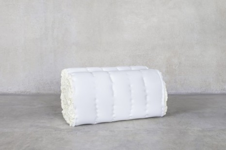 Emma Fague, Daydreams of Mashed Potato Squishy Stucco Loveseat Minus the Lover, 2020, Friedman Benda