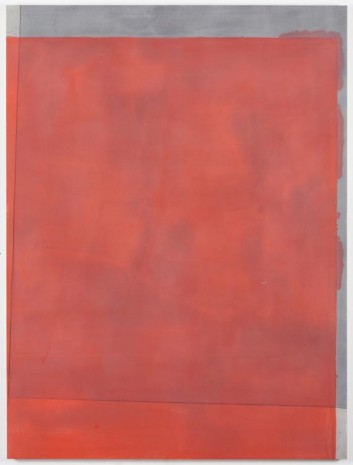 Matt Connors, Thirds (red/warm grey), 2012, Cherry and Martin