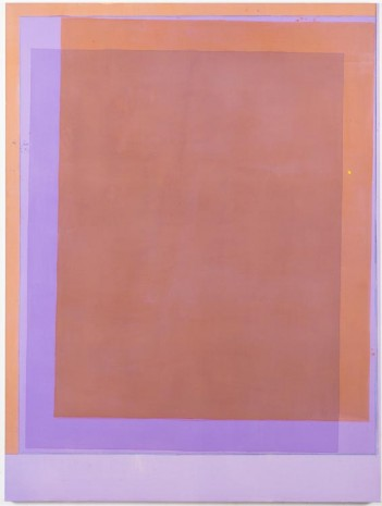 Matt Connors, Thirds (violet/orange), 2012, Cherry and Martin