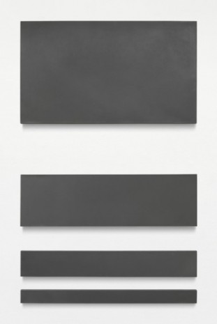 Paul Mogensen, no title (graphite and acrylic lacquer, four rectangles), 1966, Blum & Poe