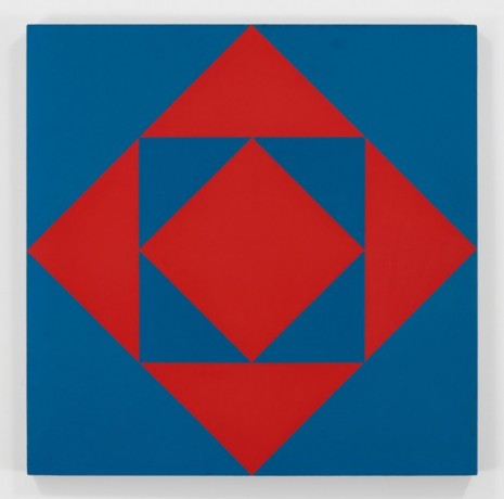 François Morellet , Carrés et triangles rouges et bleus (Red and Blue Squares and Triangles), 1953 , Hauser & Wirth