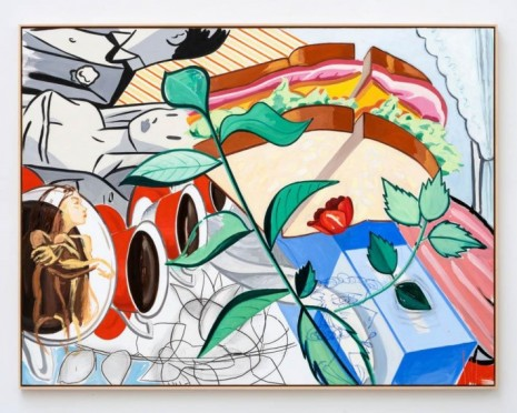 David Salle , Thinking, Looking, 2020 , Galerie Thaddaeus Ropac