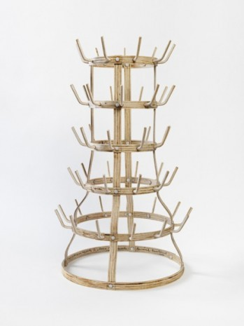 Tom Sachs, Porte-Bouteilles (Bottle Rack), 2016 , Galerie Thaddaeus Ropac